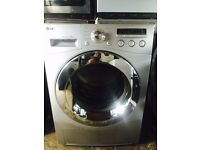 8kg LG washer washer & dryer,chrome design,excellent cond,4 months warranty,free delivery