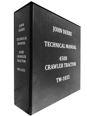 450b John Deere Crawler Tractor Technical Service Shop Manual 450 B Huge Book