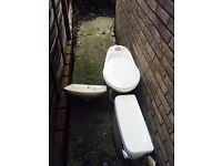 Armitage Shanks Cream Toilet and Basin Cloakroom suite