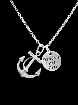 Necklace Anchor Daddy's Little Girl Christmas Gift For Her](Necklaces For Little Girls)