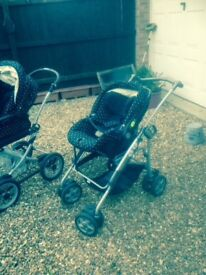 Mamas and Papas Travel System. Carry cot. Travel cot. Plus bits and bobs.