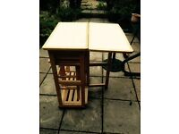 Kitchen foldaway table and stools