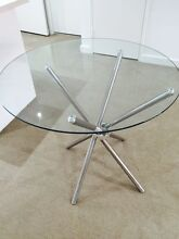 Round Glass Dining Table Turrella Rockdale Area Preview