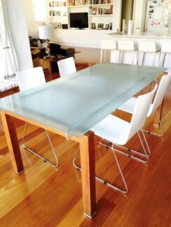 Glass dining table and four chairs Waverley Eastern Suburbs Preview