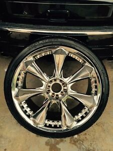 4 tires and 4 rims