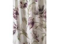 Laura Ashley Gosford curtains. Plum. Fully lined. Pencil pleat.
