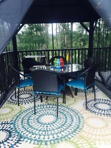 PATIO DINING SET~ CUSHIONS INCLUDED