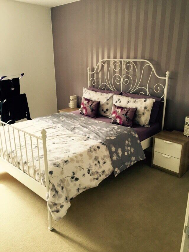 king size bed frame for sale in northampton northamptonshire gumtree. Black Bedroom Furniture Sets. Home Design Ideas