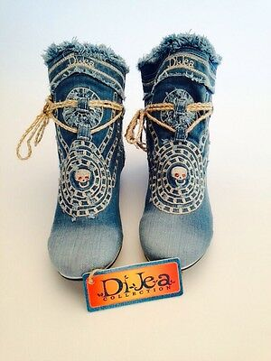 Schuhe / DiJea-Collection /Jeans Sneaker/Denim/ Hippie %% (Hippie Schuhe)
