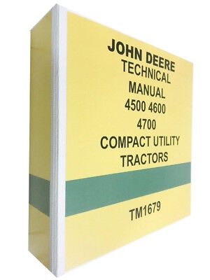 4700 John Deere Technical Service Shop Manual Repair Book 722 Pages