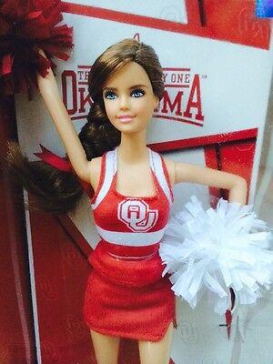 University Of Oklahoma Barbie Cheer Leader Doll  Mattel Pink Label 2012 New