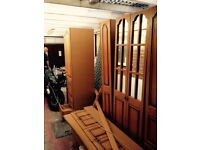 Large preowned wardrobes with overbed unit