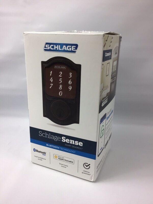 Schlage Sense Smart Deadbolt Lock Touchscreen Keypad Aged Bronze Bluetooth