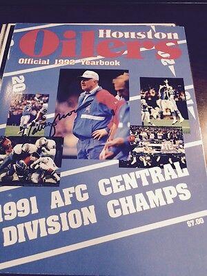 1992 Houston Oilers Auto Team Yearbook By Warren Moon