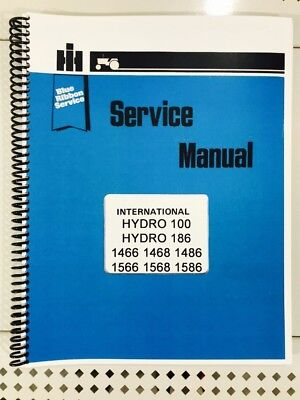 Hydro 186 International Technical Service Shop Repair Manual Diesel