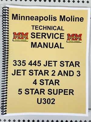 5 Star Super Minneapolis Moline Tractor Technical Service Shop Manual 5star