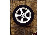 Mercedes C220 Class S class 16 inch 5 spoke alloy wheel tyre 205/55 r16