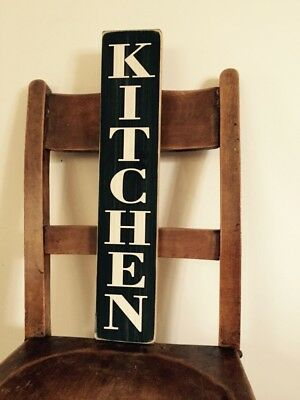 Kitchen Sign vintage shabby rustic style wooden farmhouse vertical door gift
