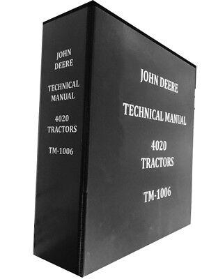 John Deere Tractor Service Book - NEW 4020 John Deere Technical Service Shop Repair Manual Tractor Book