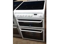 HOTPOINT 60cm FREE STANDING ELECTRIC COOKER, 4 MONTHS WARRANTY