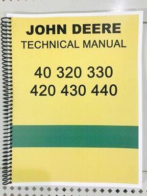 John Deere Tractor Service Book - Model 420 John Deere Technical Service Shop Repair Manual Tractor Book