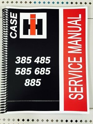 585 Case International Harvester Tractor Technical Service Shop Repair Manual Ih
