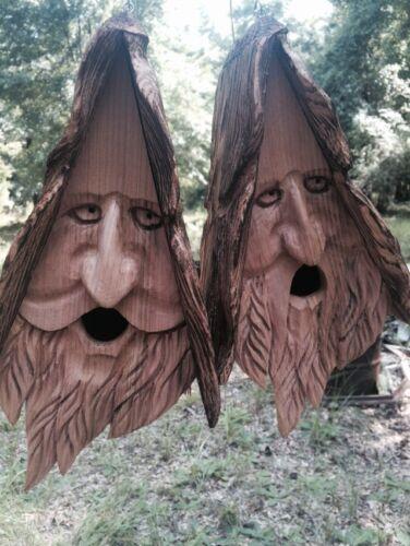 2 Wood Spirit Unique Old Man rustic ...