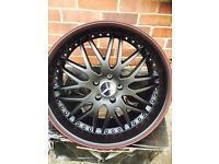 "Mercedes Audi S E CL SL Class a6 a8 20 "" inch staggered matte black alloy wheels"
