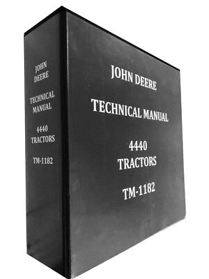 John Deere 4440 Tractor Technical Repair Service Shop Manual Huge Book