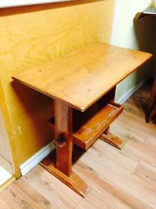 "Vintage Hand Crafted 2 Tier Table, 25"" x 14"" x 24"""