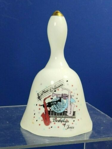 NEW ORLEANS BIRTHPLACE OF JAZZ CERAMIC DINNER BELL