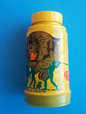 Vintage - Rare  1968 Land Of The Giants Tv Show Yellow/Green Thermos Aladdin