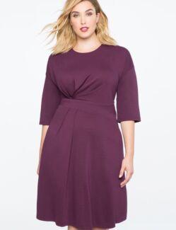 Fantastic Asymmetrical Pleated Dress