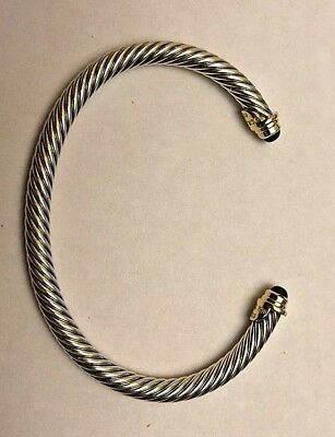 David Yurman 4mm Kids Birthstone Bracelet .925 Sterling Silver and 18kt