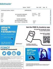 Tegan and Sara 17.02.17 o2 ABC x1 ticket