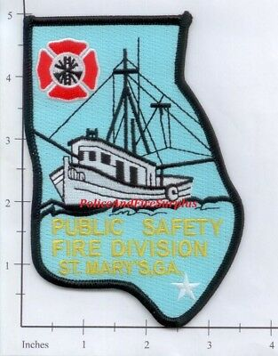 Georgia - St Mary's Public Safety Fire Division GA Dept Patch