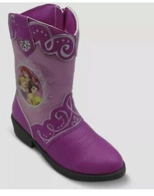 Disney Princess Pink Sparkle Western Cowgirl Rodeo Toddler Girl Boots - Girl Cowgirl Boots