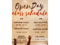 Open Day at Hot Yoga South: Saturday 17/03/18. Free Yoga Classes all day! Don't miss out!