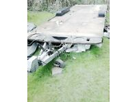 TRAILER TWIN AXLE BRAKED WITH LIGHTS GOOD * ALKO GALVANIZED CHASSIS *CAN DELIVER