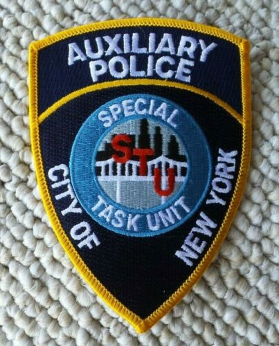 NEW YORK POLICE AUXILIARY SPECIAL TASK UNIT PATCH UNUSED