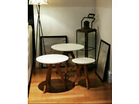 Trio Cream/White Nest Tables