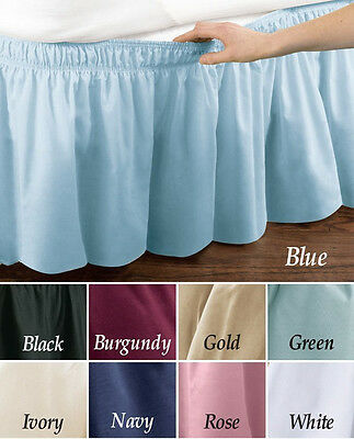 TWIN FULL SIZE WRAP AROUND 14 INCH DROP BED SKIRT DUST RUFFLE GREEN 14 Inch Drop Full Bedskirt