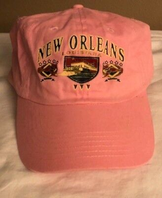 NWOT LADIES NEW ORLEANS, LA. ADULT 58CM (PINK) BASEBALL CAP HAT