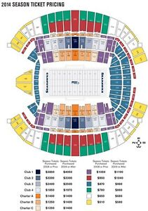 2  TICKETS GREEN BAY PACKERS @ SEATTLE SEAHAWKS   2014