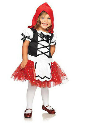 ADORABLE RED RIDING HOOD CHILD HALLOWEEN COSTUME TODDLER SIZE X-SMALL (X Small Red Riding Hood Kostüm)