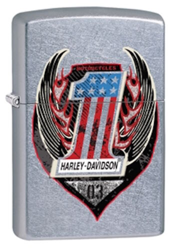 Zippo Harley Davidson Color Image Lighter With Harley Logo, 29347, New In Box
