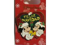 Disney FELIZ NAVIDAD Sparkle Holiday Pin MICKEY /& MINNIE