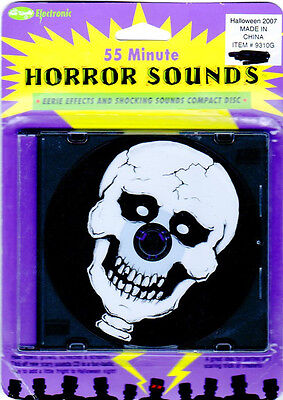 Fun World's HORROR SOUNDS: EERIE EFFECTS & SHOCKING SOUNDS CLASSIC HALLOWEEN CD! - Halloween Horror Sounds Effects