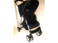Graco Mirage Black Push Chair – Excellent Condition + Full Working Order - £25 Bargain Price Pram!