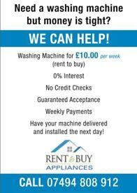 Rent to buy washing machines-0% interest